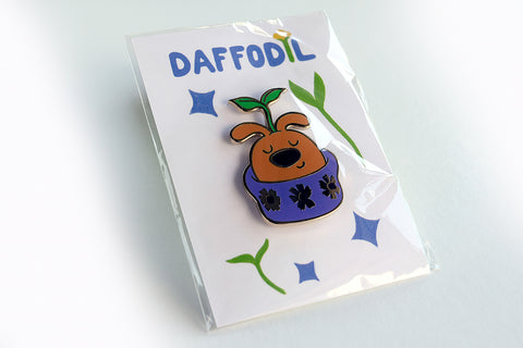 Daffodil Gold Hard enamel pin
