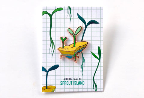 Sprout Island enamel pin