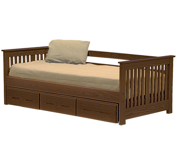 Day Bed w/Trundle by Crate Design - Brindle finish