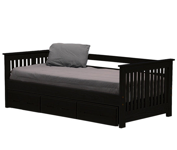 Day Bed w/Trundle by Crate Design - Espresso finish