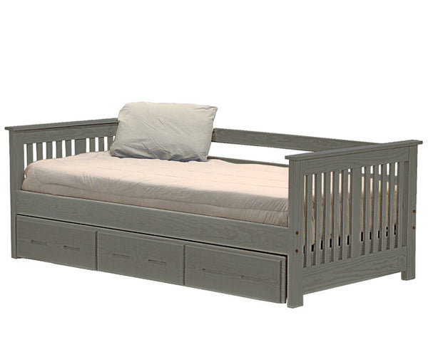 Day Bed w/Trundle by Crate Design - Graphite finish