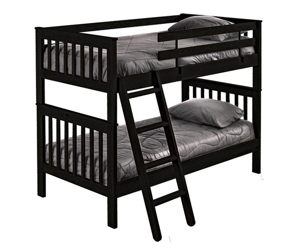 Mission Style Bunk Bed by Crate Design - Espresso