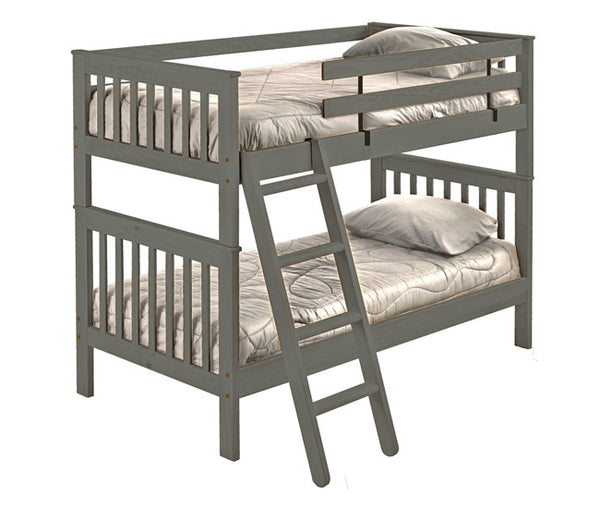 Mission Style Bunk Bed by Crate Design - Graphite