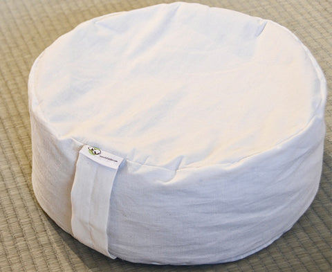 Round Cotton covered meditation cushion