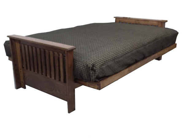 Toronto Oak Futon Frame in bed position