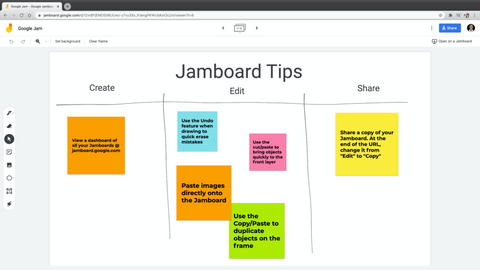tips for using jamboard for company holiday parties