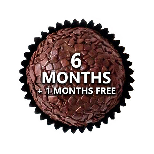 6 MONTH TINYB CHOCOLATE SUBSCRIPTION - SHIPPING INCLUDED