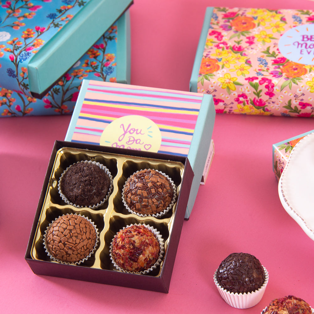 4 variations of tasty Brigadeiros