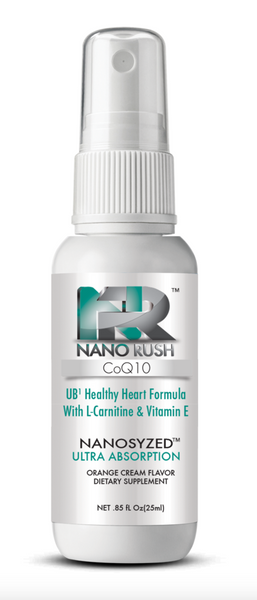 Nano Rush UB1 CoQ10 Coenzyme Q10 Healthy Heart and Cardiovascular Health