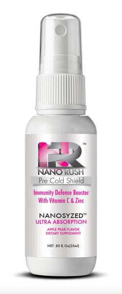 Nano Rush Pre Cold Shield Vitamin C and Zinc Immune System Defense Booster Prevent Colds