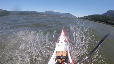 Chasing downwind dreams and green dragons in the Gorge.