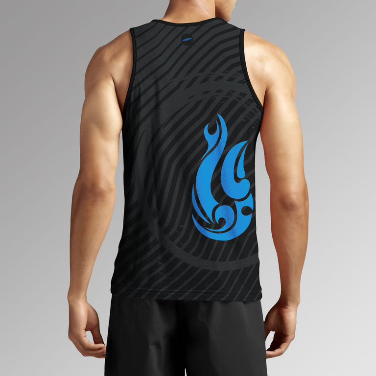 Men's Kai Pana Hook Performance Tank Top, Charcoal