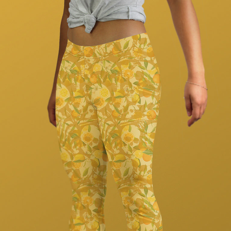 Bone Collector Capri Leggings, Citrus