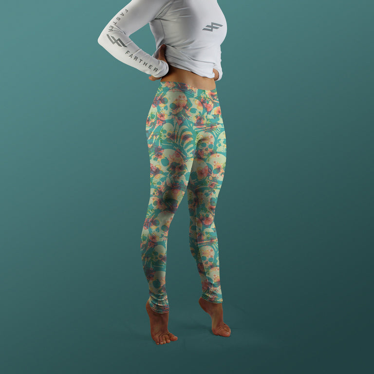 Bone Collector Leggings, Hibiscus