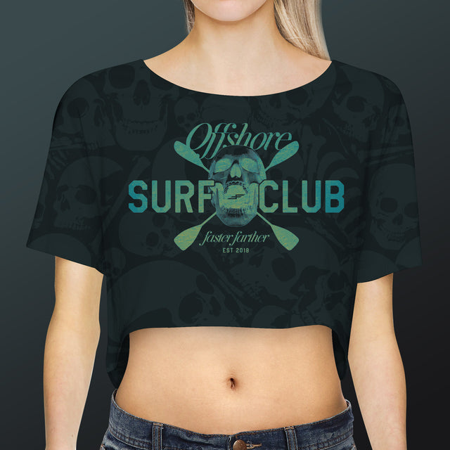 Women's Offshore Surf Club Crop Top, Storm