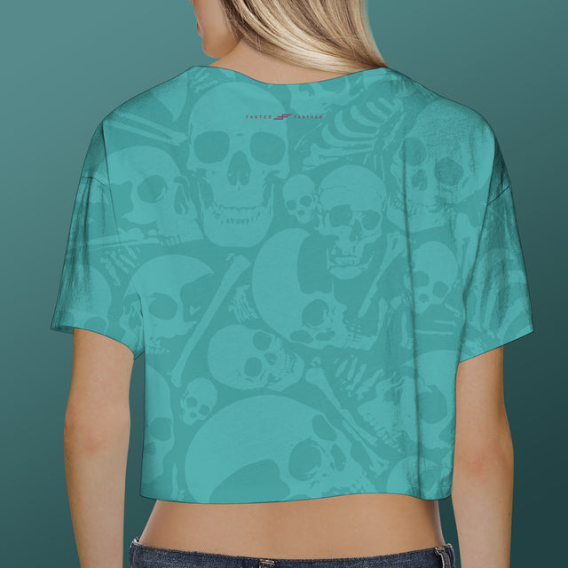 Women's Offshore Surf Club Crop Top, Aqua