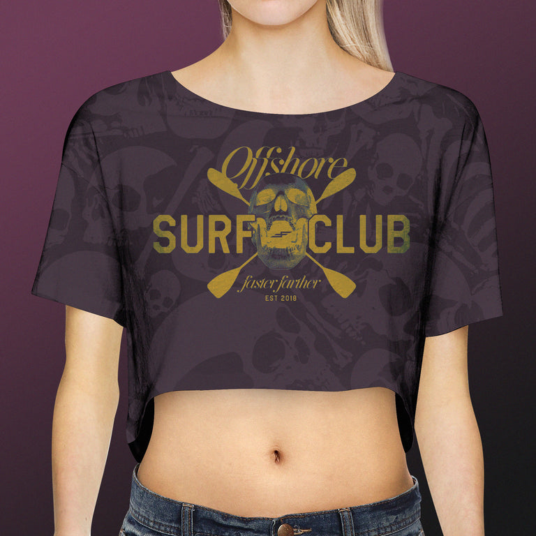 Women's Offshore Surf Club Crop Top, Nightshade
