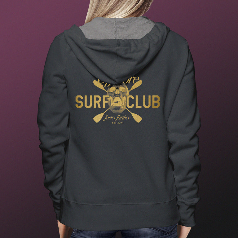 Unisex Offshore Surf Club Hoodie, Charcoal