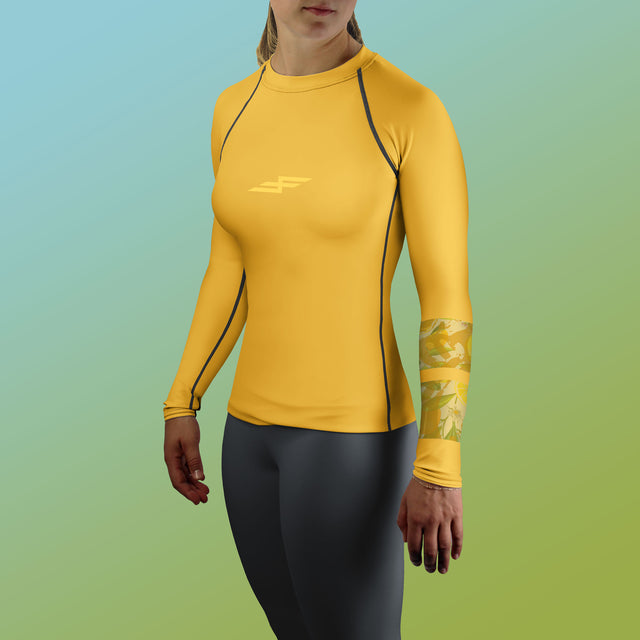 Women's Citrus Bone Collector Rash Guard