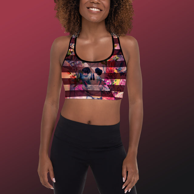 Women's Bone Collector Padded Sports Bra, Nightshade