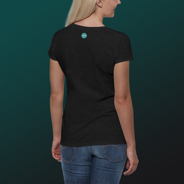 Women's Make Wake Scoopneck T-Shirt, Black