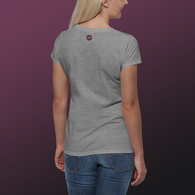 Women's Make Wake Scoopneck T-Shirt, Heather Gray