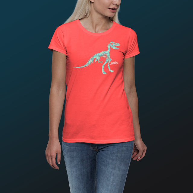 Women's Priorities Scoopneck T-Shirt, Coral