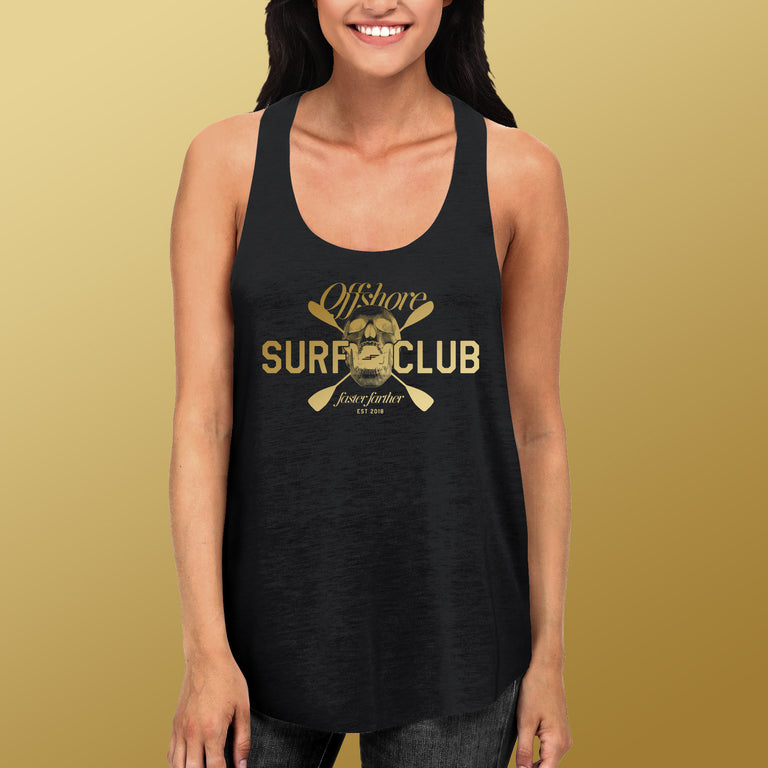Women's Offshore Surf Club Racerback Tank, Charcoal