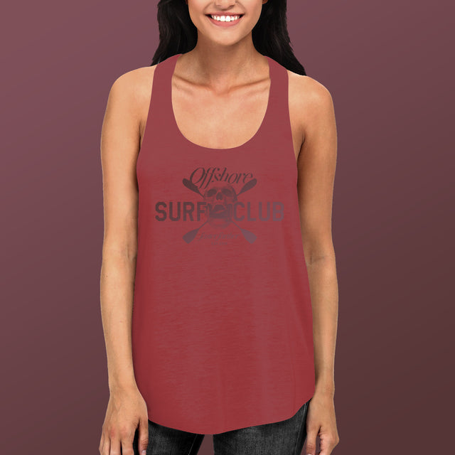 Women's Offshore Surf Club Racerback Tank, Vintage Red