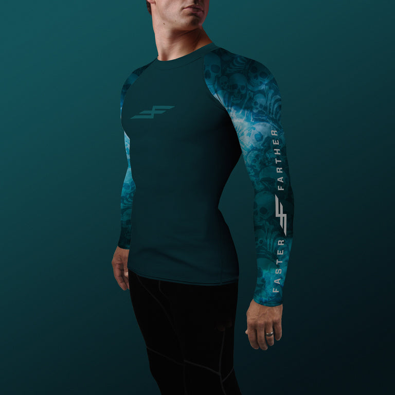 Men's Aqua Shadow Compression Fit Paddling Top