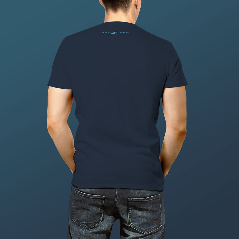 Men's Aqua Bolt T-shirt, Midnight Blue