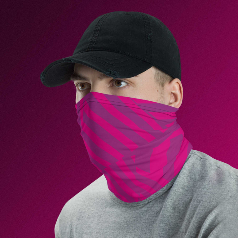 Magenta Razorfish Neck Gaiter / Headband