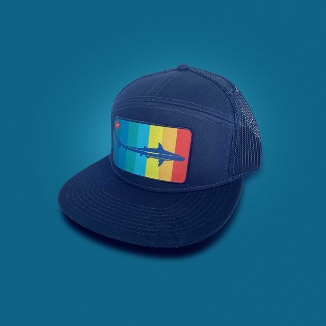 Mako Five Panel Flat Brim Hat