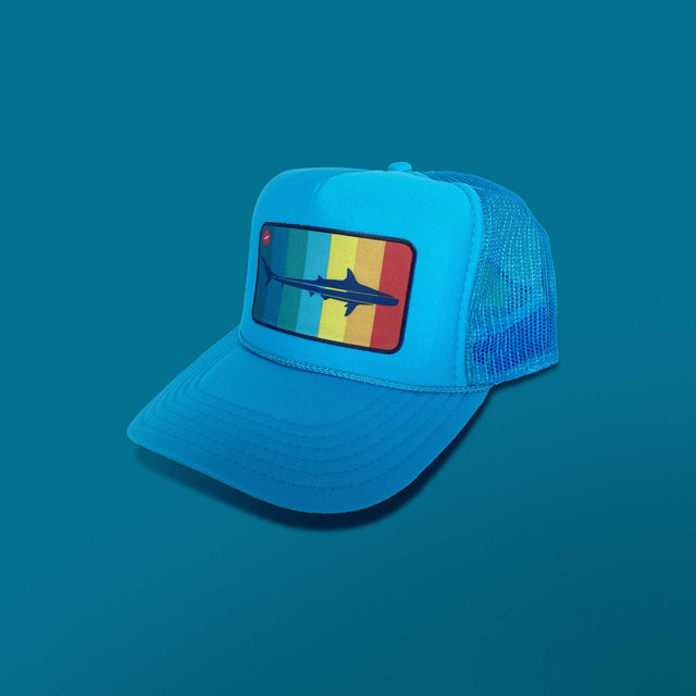 Mako Surf Trucker Hat, Ocean Blue