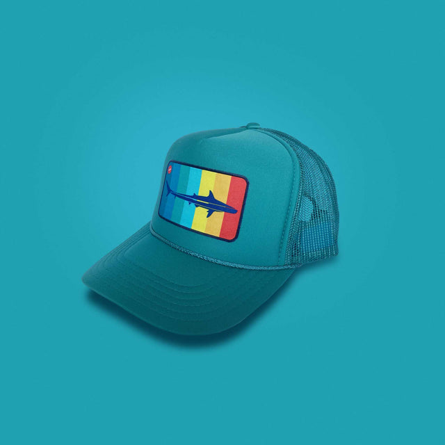Mako Surf Trucker Hat, Teal
