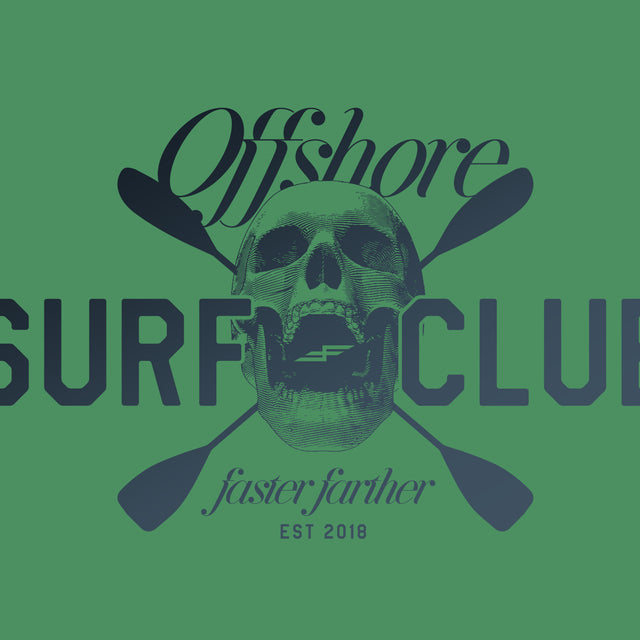Women's Offshore Surf Club Racerback Tank, Envy Green