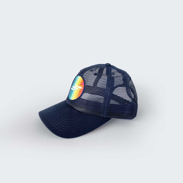 Faster Farther Screendoor Hat, Navy