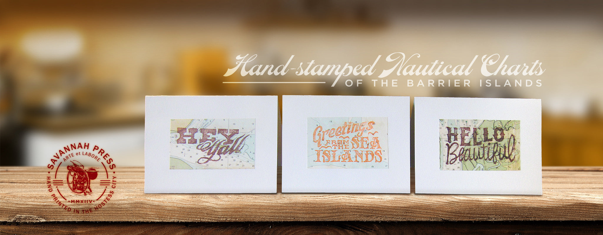 Hand Stamped Nautical Charts