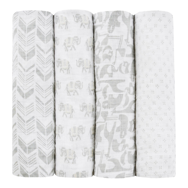Aden Anais Tea Collection Swaddles 4 Pack Savanna