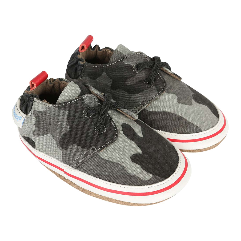 Robeez Cool & Casual Camo Soft Soles Shoes