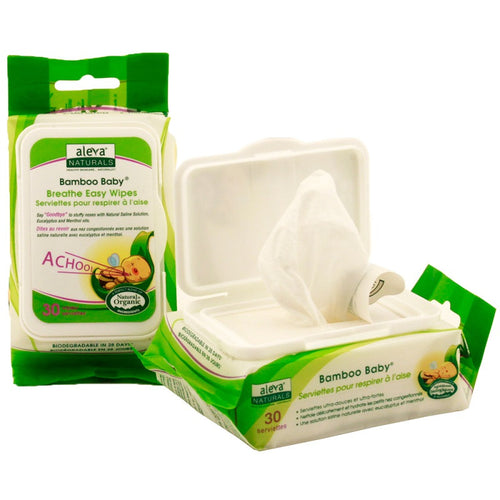 Aleva Bamboo Breathe Easy Wipes - 30ct - Kacz' Kids