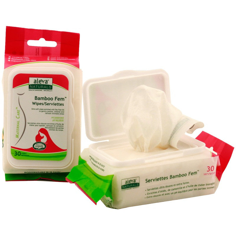 Aleva Bamboo Fem Wipes - 30ct - Kacz' Kids