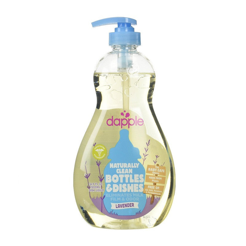 Dapple Naturally Clean Bottle & Dishes - Lavender - Kacz' Kids