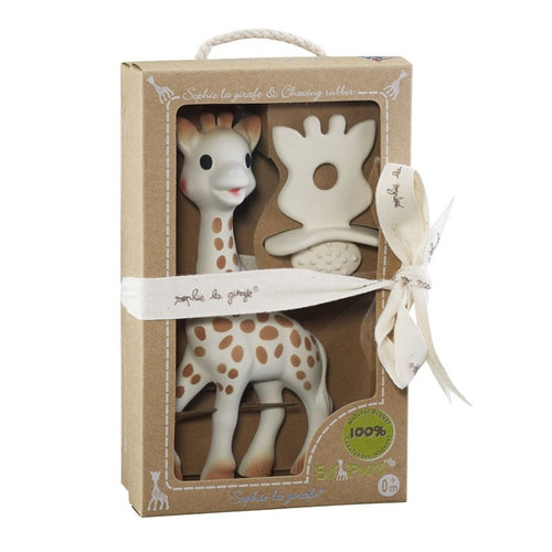 Sophie So'Pure La Girafe and Chewing Rubber Gift Set - Kacz' Kids - 1