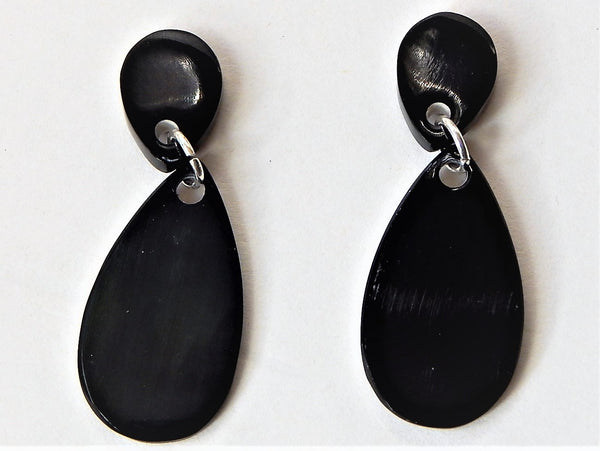 Buffalo Horn Ear Stud Earring