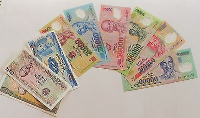 Complete Set of Nine Vietnamese Currency Notes
