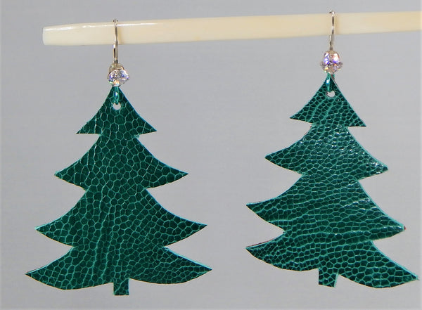 Christmas Leather Earring