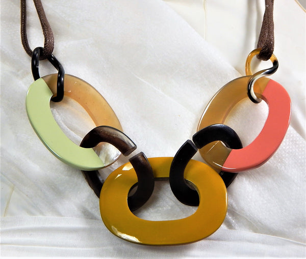 Buffalo Horn Lacquer Necklace