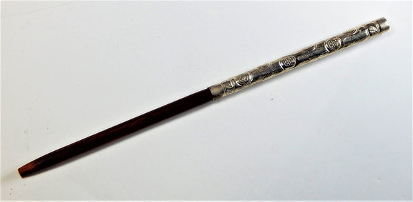 Rosewood and silver  Hair Stick