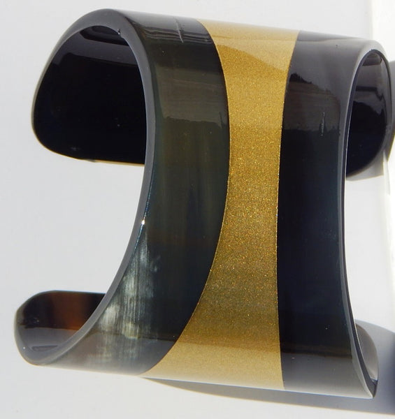 Buffalo Horn  Bracelet Cuff Lacquer